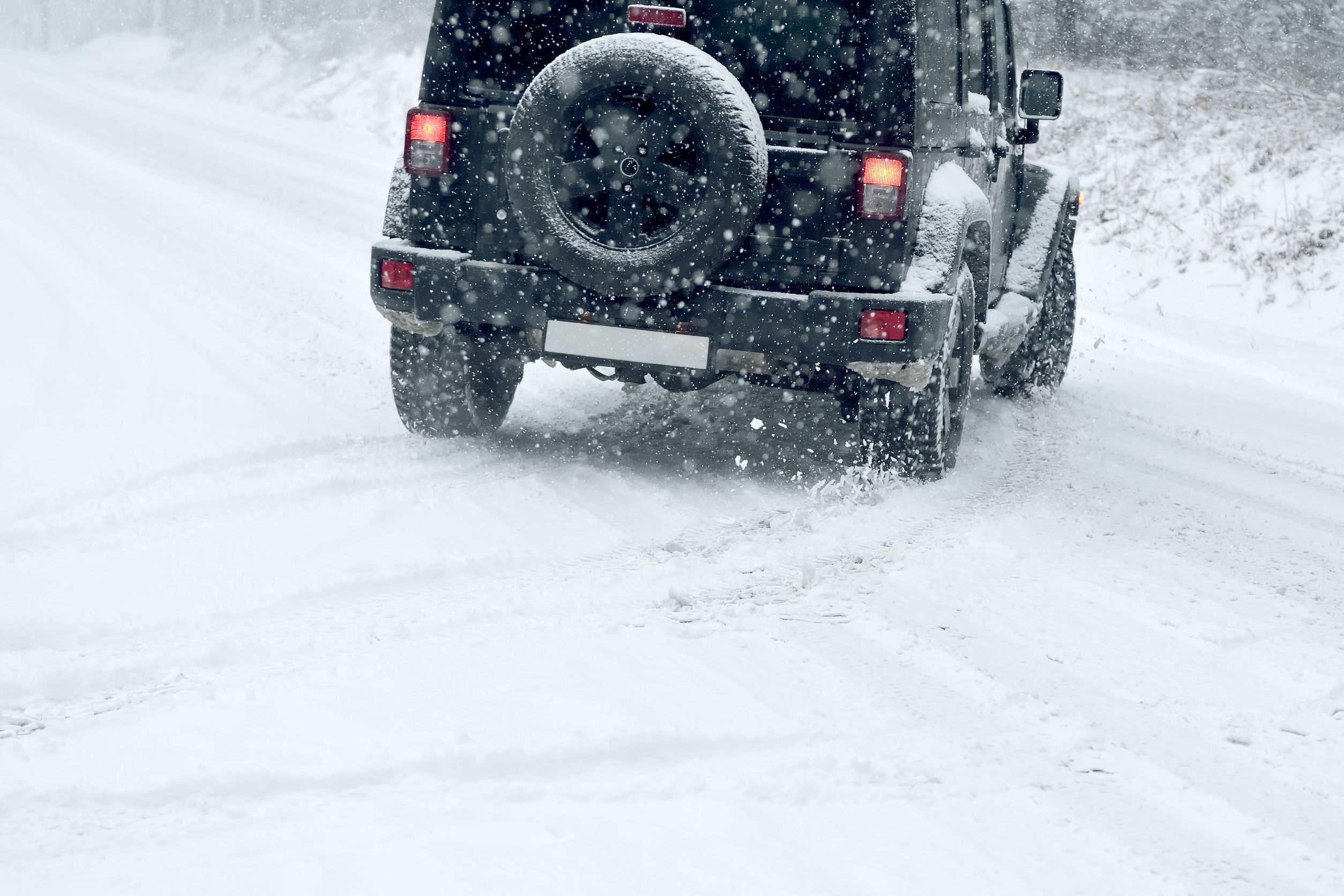 47346346 - winter driving - risk of snow and ice - drifting